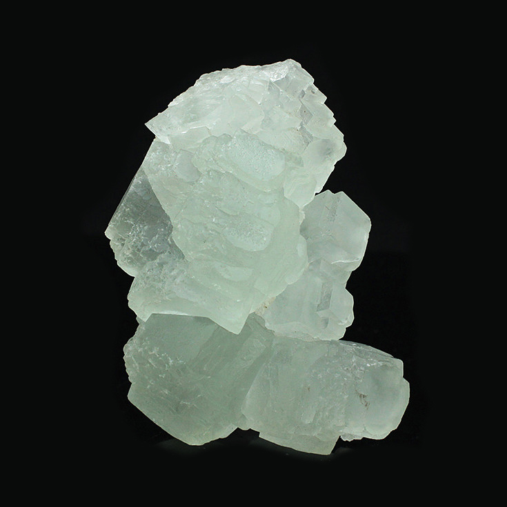 Natural light green fluorite specimens stepped full Bliss mineral crystals teaching specimens Kistler collections