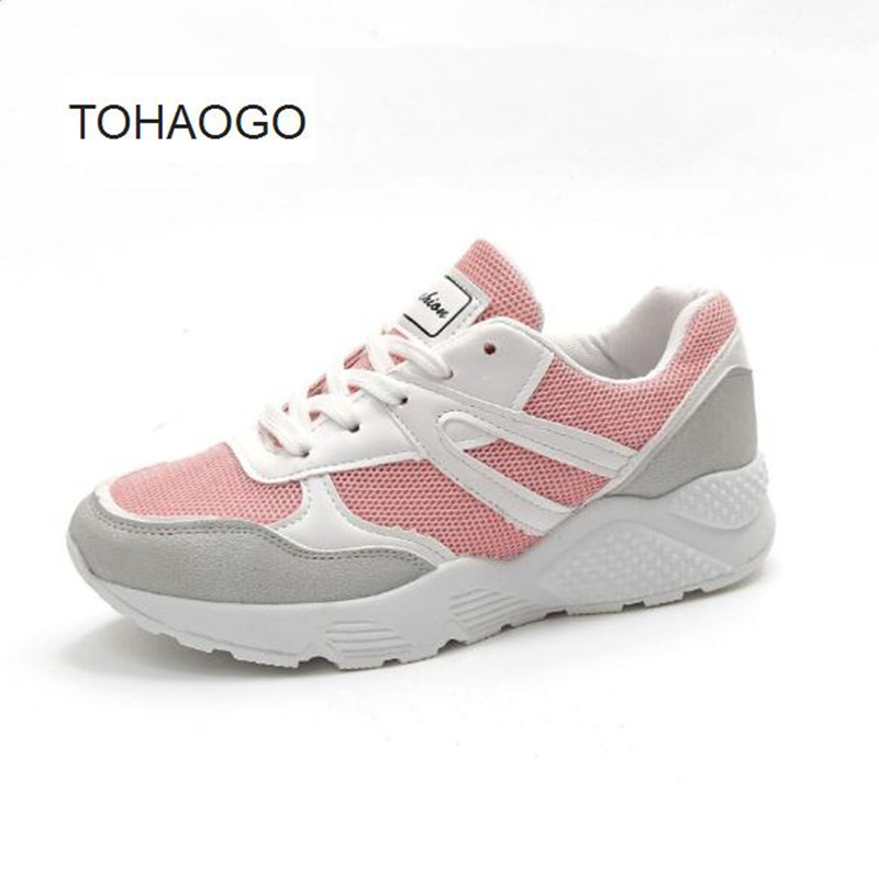 Spring new casual student shoes Sweet blue, pink Women Shoe Mesh breathable sneaker huarche obuv plus size casual women shoe mesh breathable sneaker female light summer couple shoes free shipping gold silver black huarche