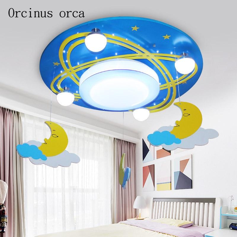 Креативная кукольная люстра с героями мультфильмов, детская комната, для мальчиков и девочек, спальня, современный защитный светодиодный г