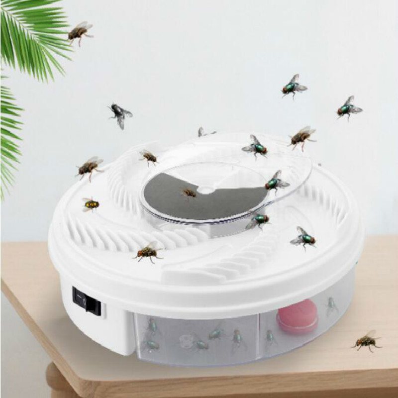 USB Electronic House Fly Trap Device with Trapping Food Automatic Arrest Flies Destroy Fly Cages Fly Killer Kitchen Tools
