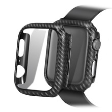 Frame Carbon Protective Case For Apple Watch 4 bands 42mm 38mm 44mm 40mm watch covers Bumper for iwatch series 3 2 1 Accessories pc cover case for apple watch 3 2 1 42mm 38mm iwatch series watch case colorful plating full frame protective case armor shell