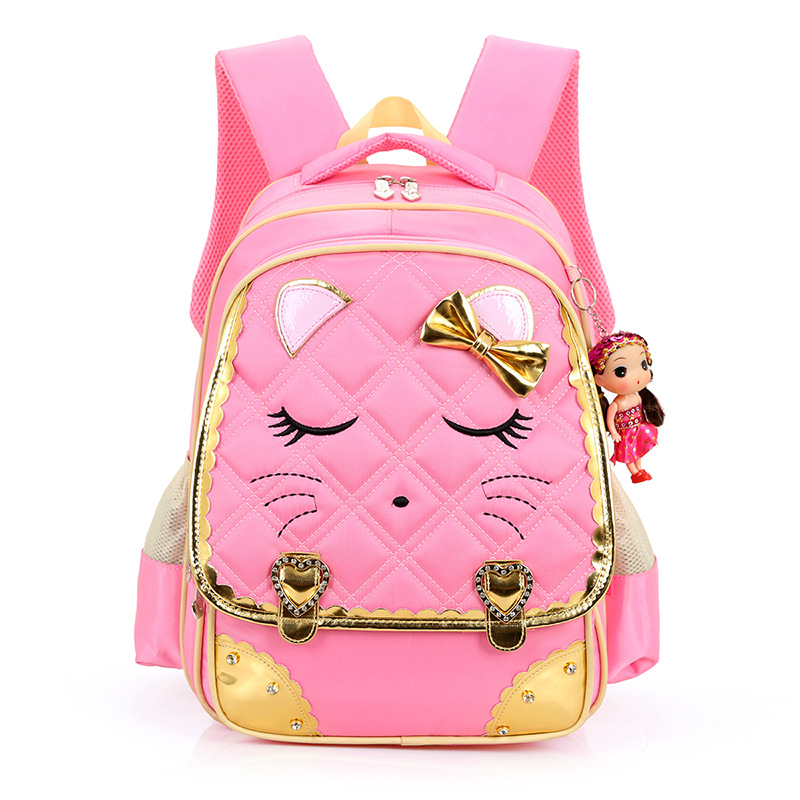 2017 Girls School Bags Children Backpack Primary Bookbag Orthopedic Princess Schoolbags Child backpacks mochila escolar menina