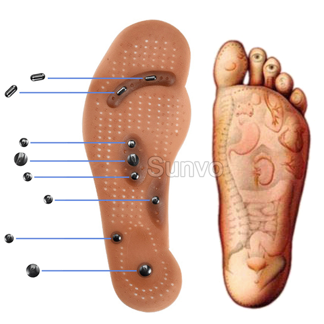 Magnetic Insoles Slimming Therapy for Weight Loss Massage Foot Care Shoes Mat Pad Brown Insole Wholesale Dropshipping Soles 3