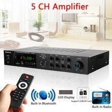Bluetooth de Audio de alta fidelidad, versión inalámbrica USB/SD sin pérdidas amplificador Karaoke 1120 W 5CH de amplificador estéreo envolvente de cine en casa