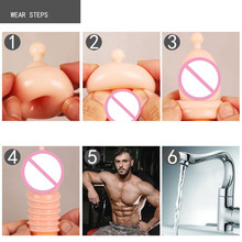 Nozzle On Penis Dick Extensions Condom Penis Sleeve Male Head Attachment Enlargement for Men Stimulate Massager Adult Sex Toys