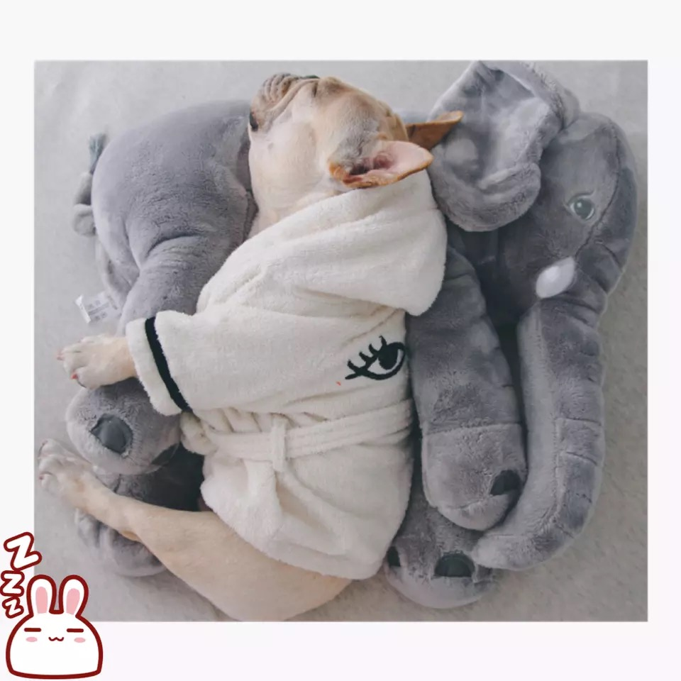 Il metodo di combattimento bambola elefante Tattica Corgi Shiba Tobago bit partner pet cat toy dog cuscino sonno