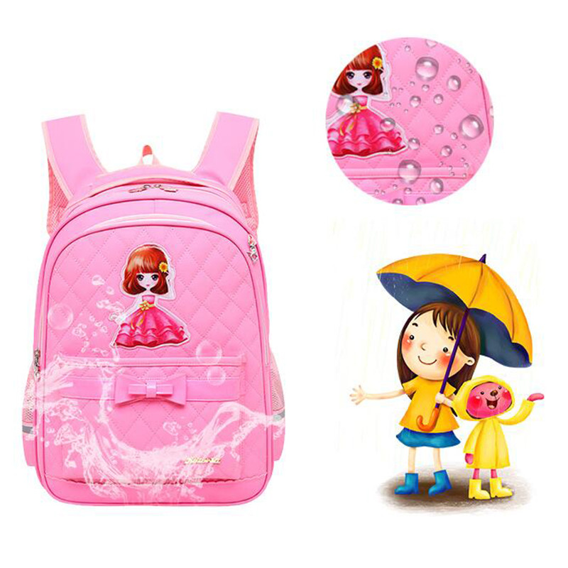 KZWZ Preppy Style Girls Schoolbag 3 Piece Set Princess Bag Bowknot 2-6 Grade Childrens Bags Fashion Pupil Backpack 2018 M791