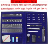 New! Professional Diamond Tester Tool Set in Box, with Clarity, Size, Color, Cutting Testing, Jewelry Making Tool Set