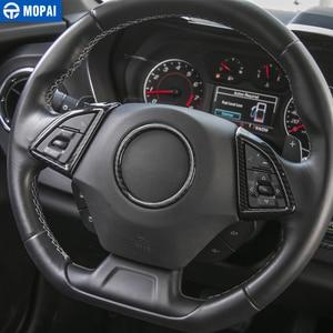 Image 5 - MOPAI ABSภายในรถพวงมาลัยฝาครอบตกแต่งสติกเกอร์สำหรับChevrolet Camaro 2017 รถอุปกรณ์จัดแต่งทรงผม