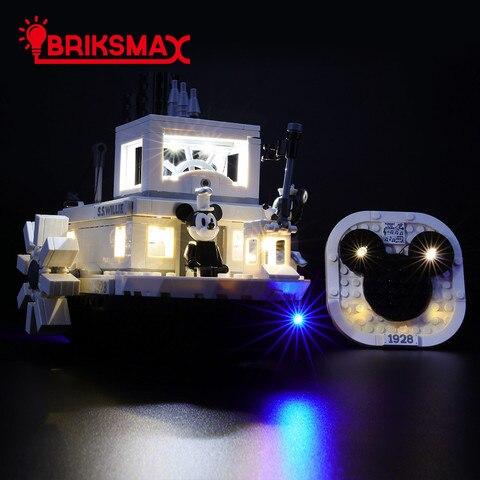 steamboat willie briksmax led light up kit para ideias de blocos de construcao compativeis com