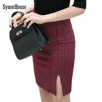 Plus Size 3XL 4XL 5XL High Waist Skirts Slim Korean Striped Skirt Package Hip Skirt Black