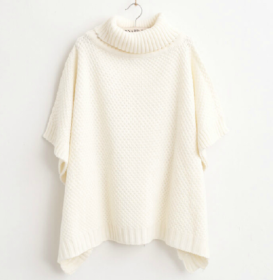 Knitting Pattern For Turtleneck Poncho : Online Buy Wholesale turtleneck poncho sweater from China ...