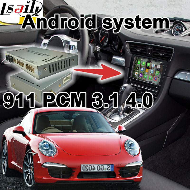 Android 6.0 GPS box di navigazione per Porsche 911 PCM 3.1 4.0 video scatola di interfaccia con carplay google play youtube posteriore vistaAndroid 6.0 GPS box di navigazione per Porsche 911 PCM 3.1 4.0 video scatola di interfaccia con carplay google play youtube posteriore vista