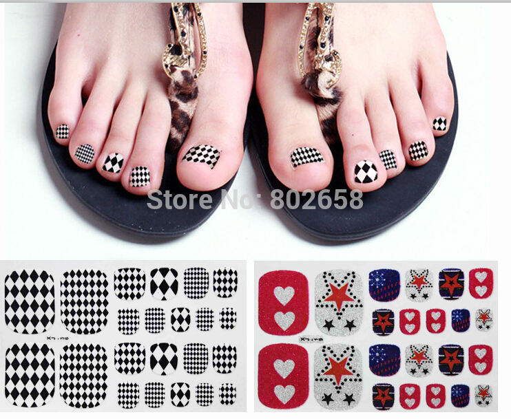 Free Shipping 5set Lot Nail Foil Stickers Wraps Toe Art Designs Sticker In Decals From Beauty Health On Aliexpress