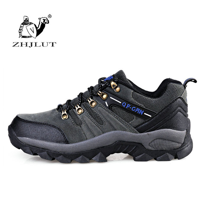Men's Waterproof Leather Trekking Shoes Athletic Hiking Shoes