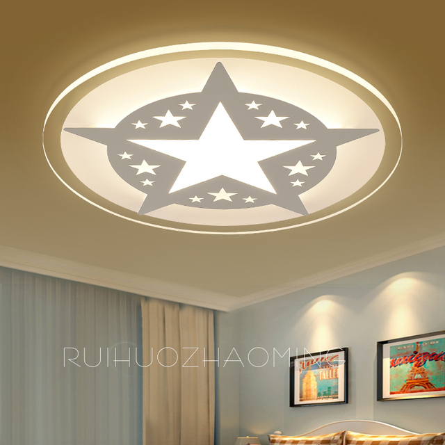 Star Light Dome Simple Modern LED Bedroom Lamp Warm And Romantic - Star lights bedroom ceiling
