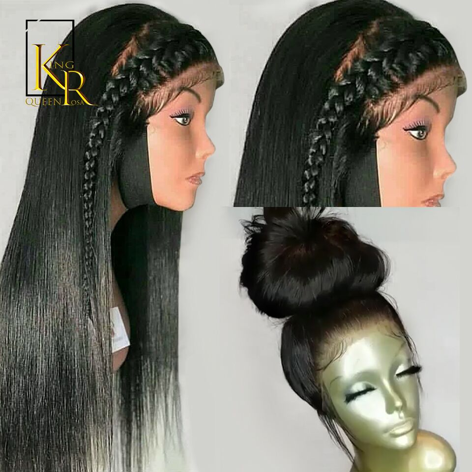 Full Lace Human Hair Wigs For Women Pre Plucked With Baby Hair Brazilian Straight Remy Hair