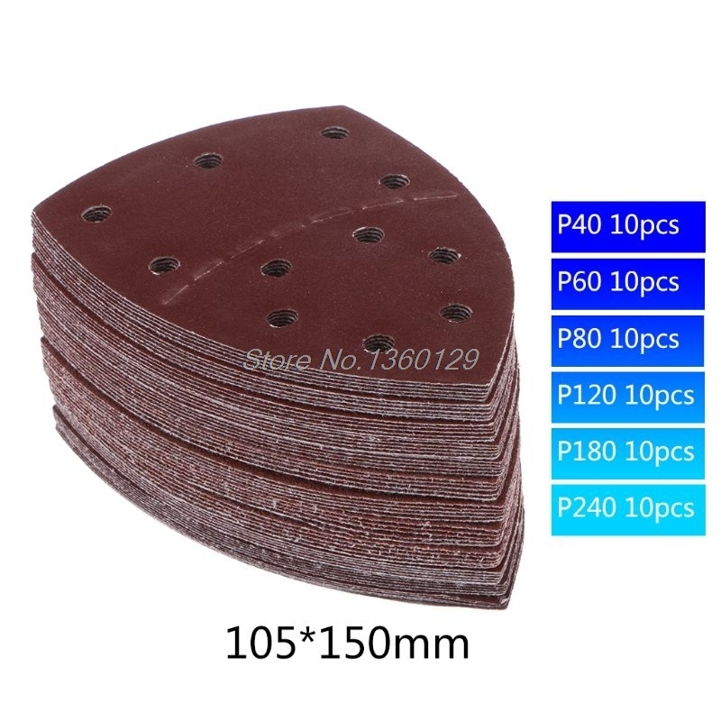 60pcs 11-hole Sanding Sheets 105 X 152 Mm Grit 20 Each Of 40/60/80/120/180/240 Sandpaper For Multi Sander Bosch Prio Dropship