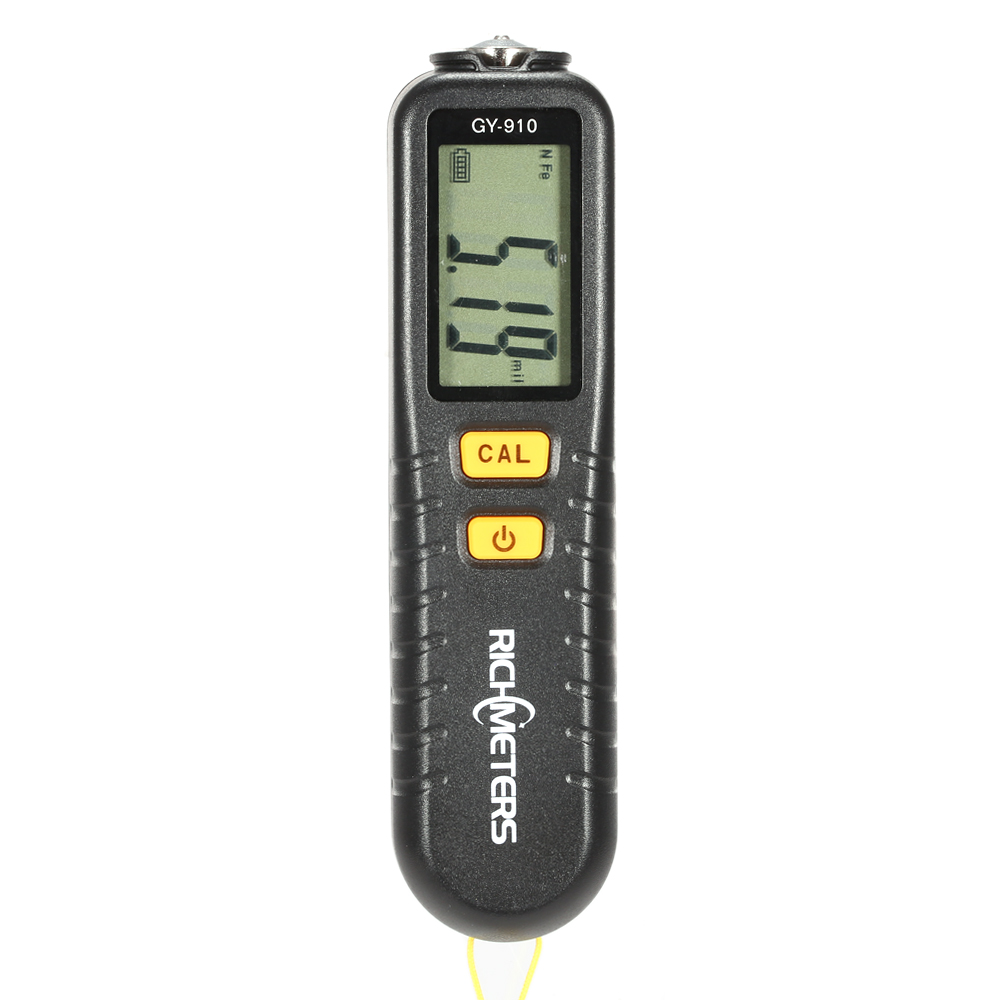 цены RICHMETERS GY910 Handheld Digital Coating Thickness Gauge Tester Fe/NFe Coatings LCD Display