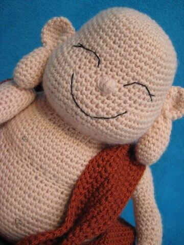 Amigurumi Lachender Buddha Glückliche Monk Puppe Spielzeug Häkeln
