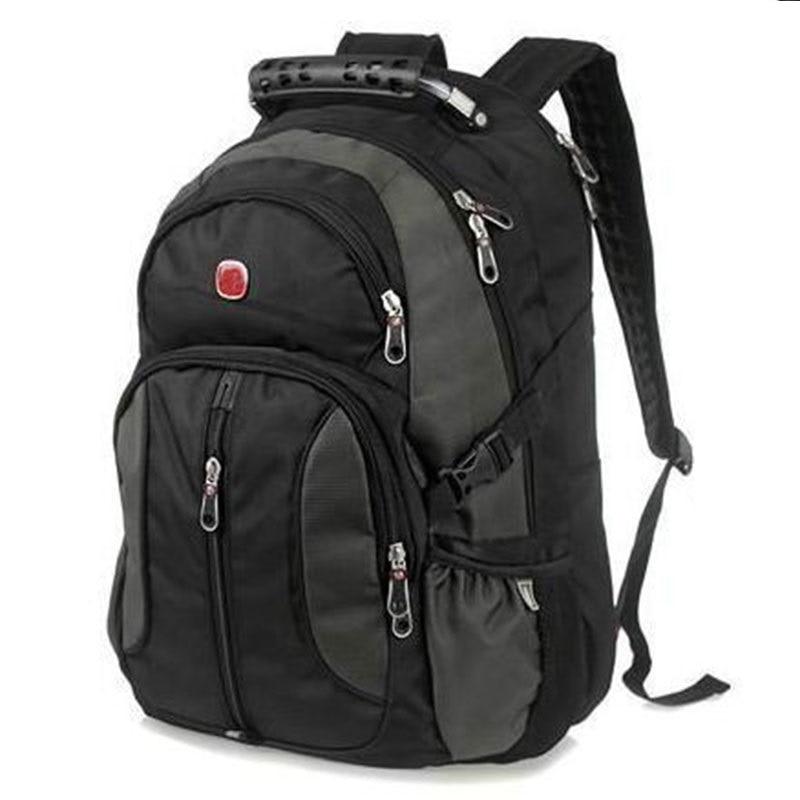 Fashion font b Backpack b font Men Bag Travel Mochila Masculina Black Student School Bags Male