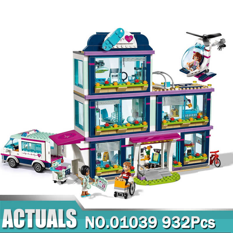Friend Girls Series 01039 Heartlake Hospital  Building Blocks Bricks Toys for Girl Gifts Compatible with 41318