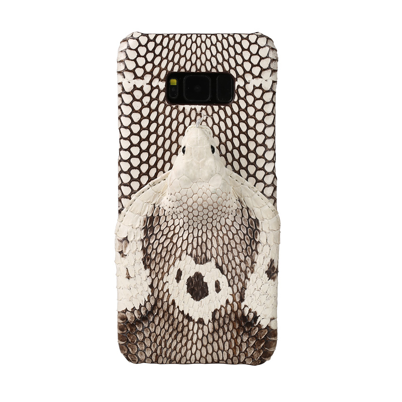 Phone Case For Samsung Note 10 9 S6 S7 edge S8 S9 Plus case Really Snake head Back Cover A50 A7 A8 J5 J7 2017