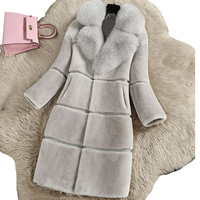 Winter New Women Fur Coat Ladies Long Sleeve Thicken Warm Jackets 2018 Casual Faux Mink Fur Coats Female Fox Fur collar Parka