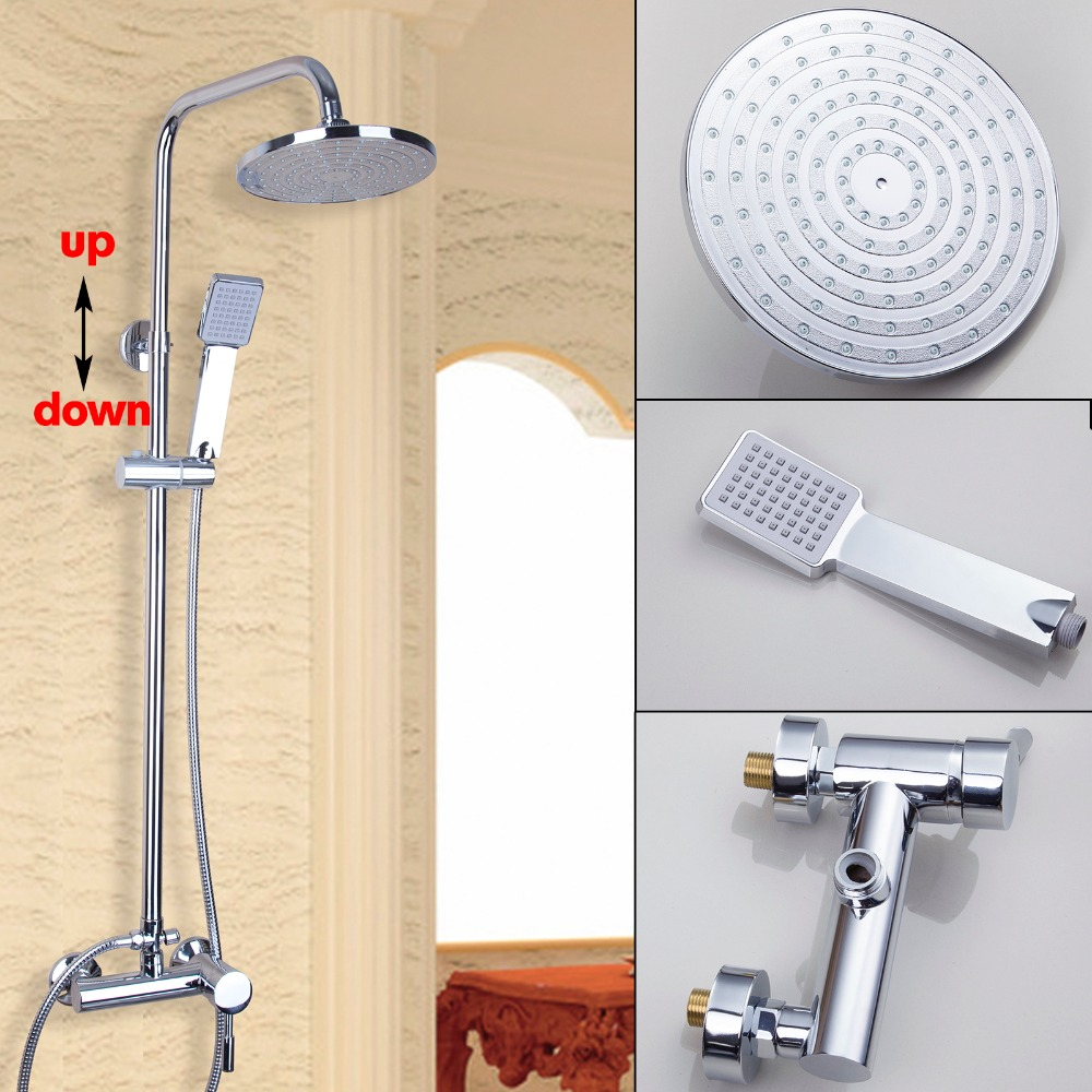 Torayvino Fashion Polished Chrome Bath&Shower  Rain Waterfall Shower Set hot Mixer Faucet Tap Set Chuveiro Torneira Mixer Tap torayvino tap bathroom shower faucet with chrome polished cold