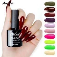 MorCat Gel Nail Polish Wine Red Color for Winter UV Gel Varnish Nail Art UV Varnish Soak Off Gel Lacquer 10ml Nail Gel Polish все цены
