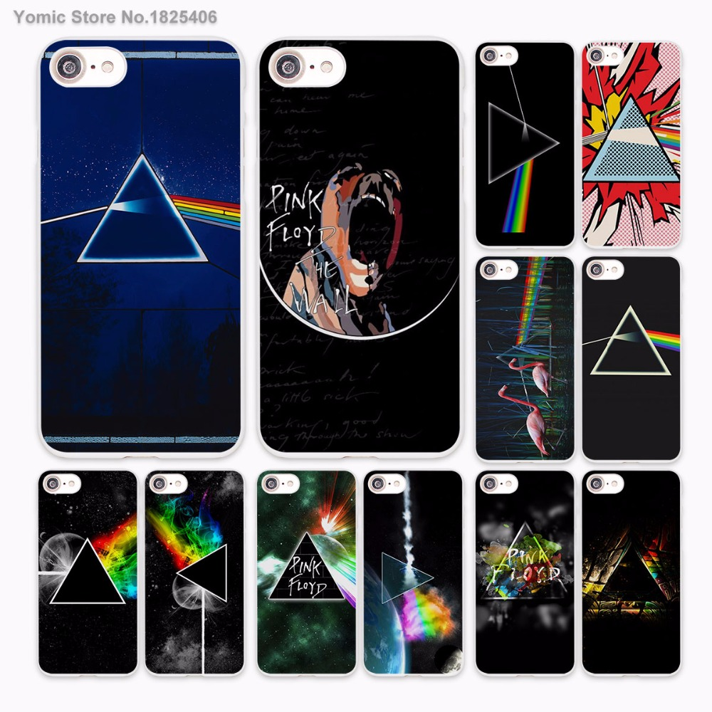 pink floyd triangle space planet colors design hard White Case Cover for Apple iPhone 7 6 6s Plus SE 5 5s 5C 4 4s phone case