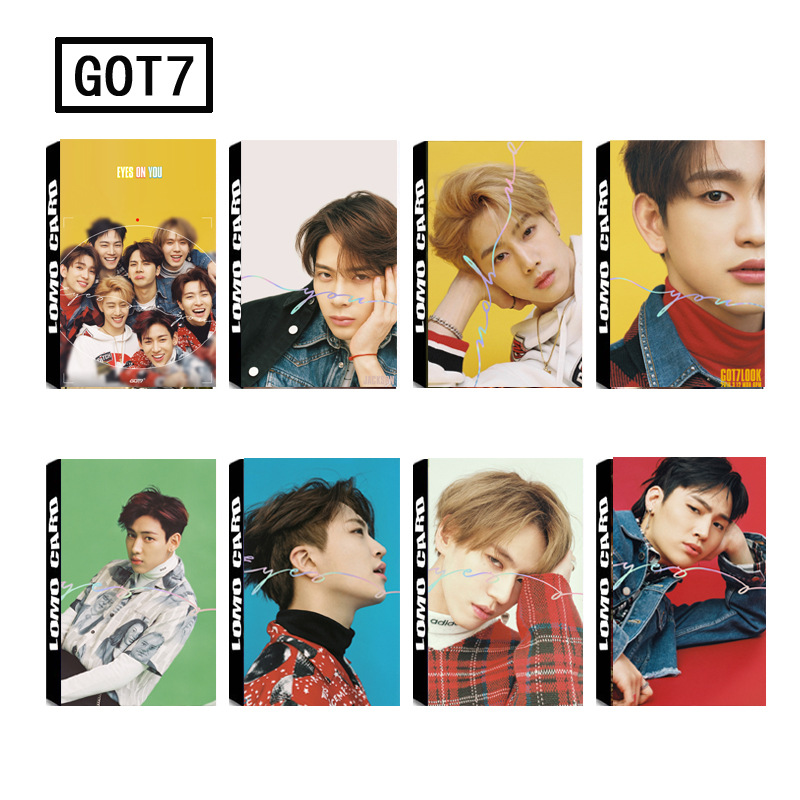 New 30Pcs/set KPOP GOT7 Album EYES ON YOU HD Photo Card PVC Self Made LOMO Photocard