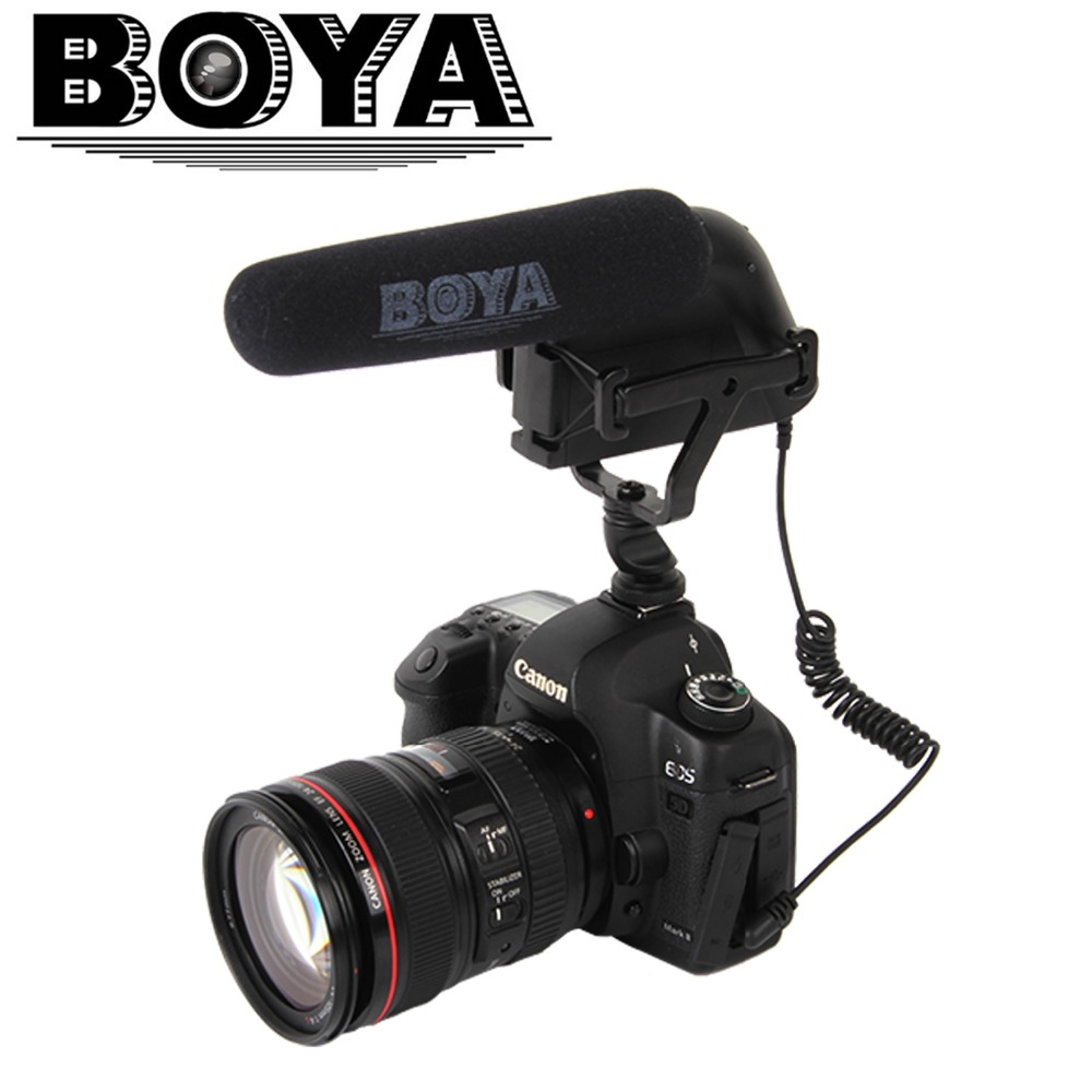 Electronic 2017 New Boya BY-VM200P Video Condenser Microphone for Gopro Sony Nikon Canon 6D Sigma Pentax Cameras Mini Camcorders купить sigma 18 200 мм для pentax