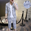 NEW photography suits men cultivating leisure suit Korean short sleeve Color suits Theatrical Costume pants Small suit