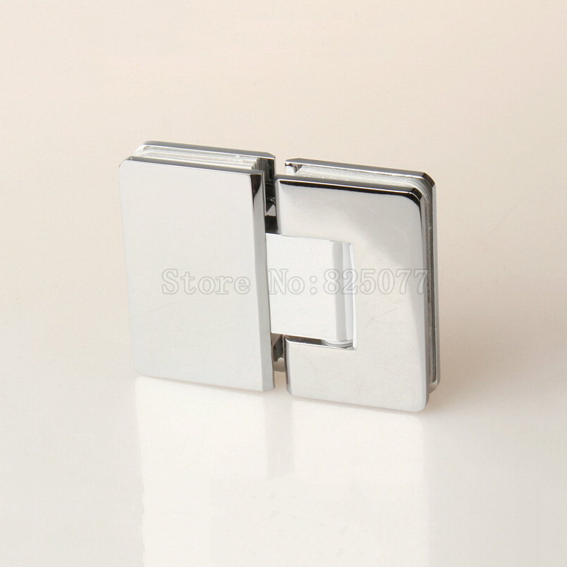 2PCS Luxury Copper 180 Degree Hinge Glass Shower Door Hinge For Home Bathroom Hardware JF1460 2pcs set stainless steel 90 degree self closing cabinet closet door hinges home roomfurniture hardware accessories supply