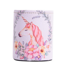 Vintage Desk Unicorn Pen Holder Lovely Organizer Office Student Stationery Multifunction Desktop Pencil Storage Box