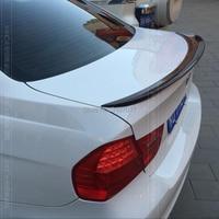 For bmw E90 spoiler E90 318i 320i 325i 330i 2005 2011 E90 sedan rear Carbon Fiber Rear Roof Spoiler Lip Window Top Wing