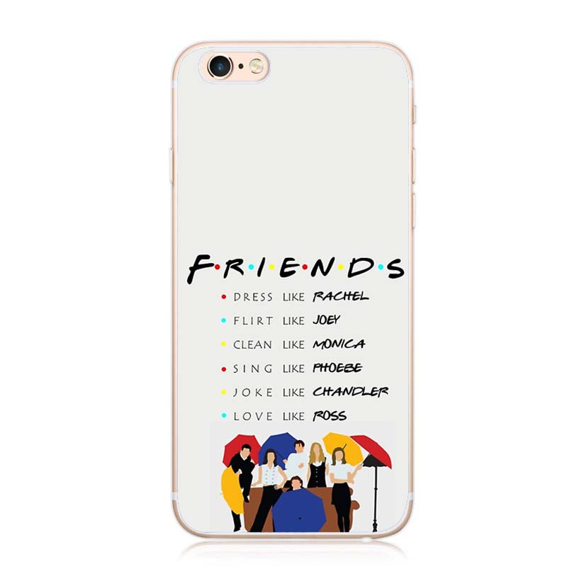 timeless design 09e1c 3048c US $2.39 |Friends TV Show Logo Funny Central Perk Park Soft Phone Case  Cover Coque Fundas For iPhone 7Plus 7 6S 6Plus 5 For iPhone X Case-in ...