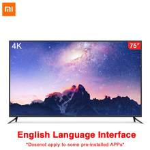Original xiaomi tv 4 75 polegadas interface inglês 4 k Ultra-thin11.4mm corpo controle remoto inteligente 4 k hdr 2 gb + 32 gb dolby som(China)