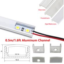 0 5M Super Slim Recessed Aluminum LED Profile without Flange Using for Strip within 12mm Led Bar Light led profile aluminium cheap LED Bulbs Bar Lights ROHS MC-ALP002 1 2cm UnvarySam 3 Years 85-265V 50cm Industrial Indoor Lighting