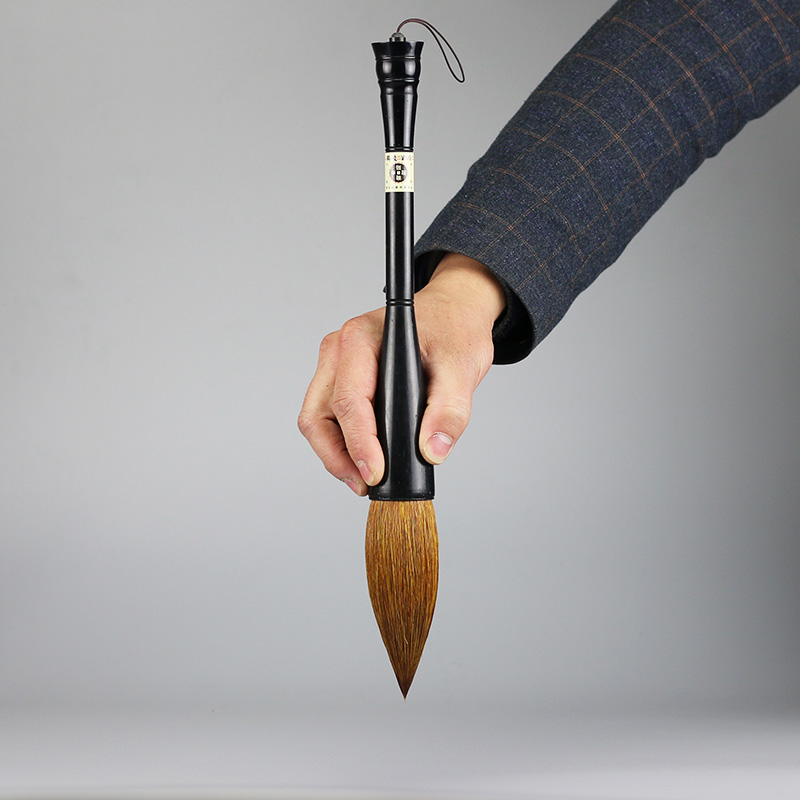 High Quality Large Hopper-shaped Brush Chinese Traditional Calligraphy Brushes Pen Weasel Hair Writing Festival Couplets Brush цена
