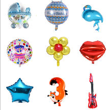 Multi Types Air Balloons Birthday Party Decoration Baby Shower Foil Balloons Baby Girl & Boy Happy Birthday Helium balls globos(China)