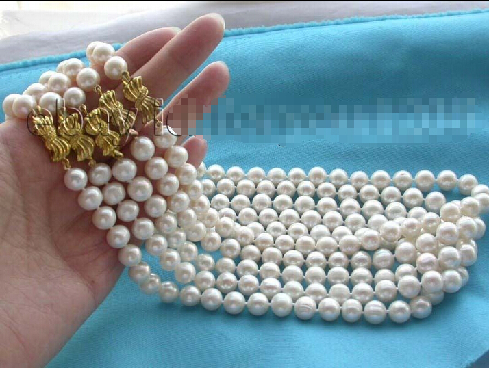 FREE SHIPPING>@@> Wholesale 5pieces Natural 10mm White Pearl necklace!^^^@^Noble style Natural Fine jewe &FREE SHIPPING>@@> Wholesale 5pieces Natural 10mm White Pearl necklace!^^^@^Noble style Natural Fine jewe &