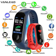 M3 สมาร์ทนาฬิกาผู้ชายผู้หญิงกันน้ำกีฬาสมาร์ทสร้อยข้อมือบลูทูธ Heart Rate Monitor สายรัดข้อมือออกกำลังกายสำหรับ Android IOS