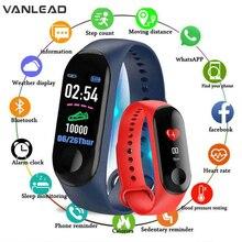 M3 Intelligente Della Vigilanza Donne Degli Uomini Impermeabile Intelligente Del Braccialetto di Sport Del Telefono Bluetooth Monitor di Frequenza Cardiaca Fitness Wristband Per Android IOS