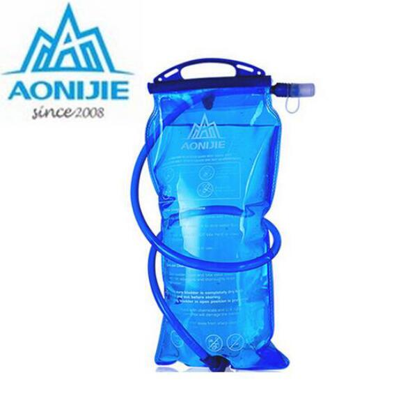 AONIJIE PEVA Water Bag Outdoor Cycling Running Foldable Sport Hydration Bladder For Camping Hiking Climbing 1L/1.5L/2L/3L