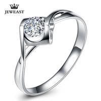 Натуральный кольцо с бриллиантом 18 К золото Для женщин Lover Пара Юбилей Романтический предложить обручальное свадебное Вечерние Южной Африк