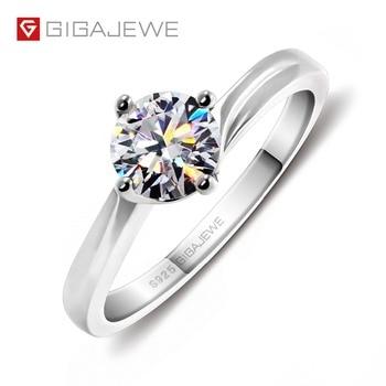 13cce53b1e8e Kuololit 18 K oro blanco Moissanite anillos para las mujeres laboratorio  crecido corte cuadrado diamante magnífico regalos la boda joyería fina