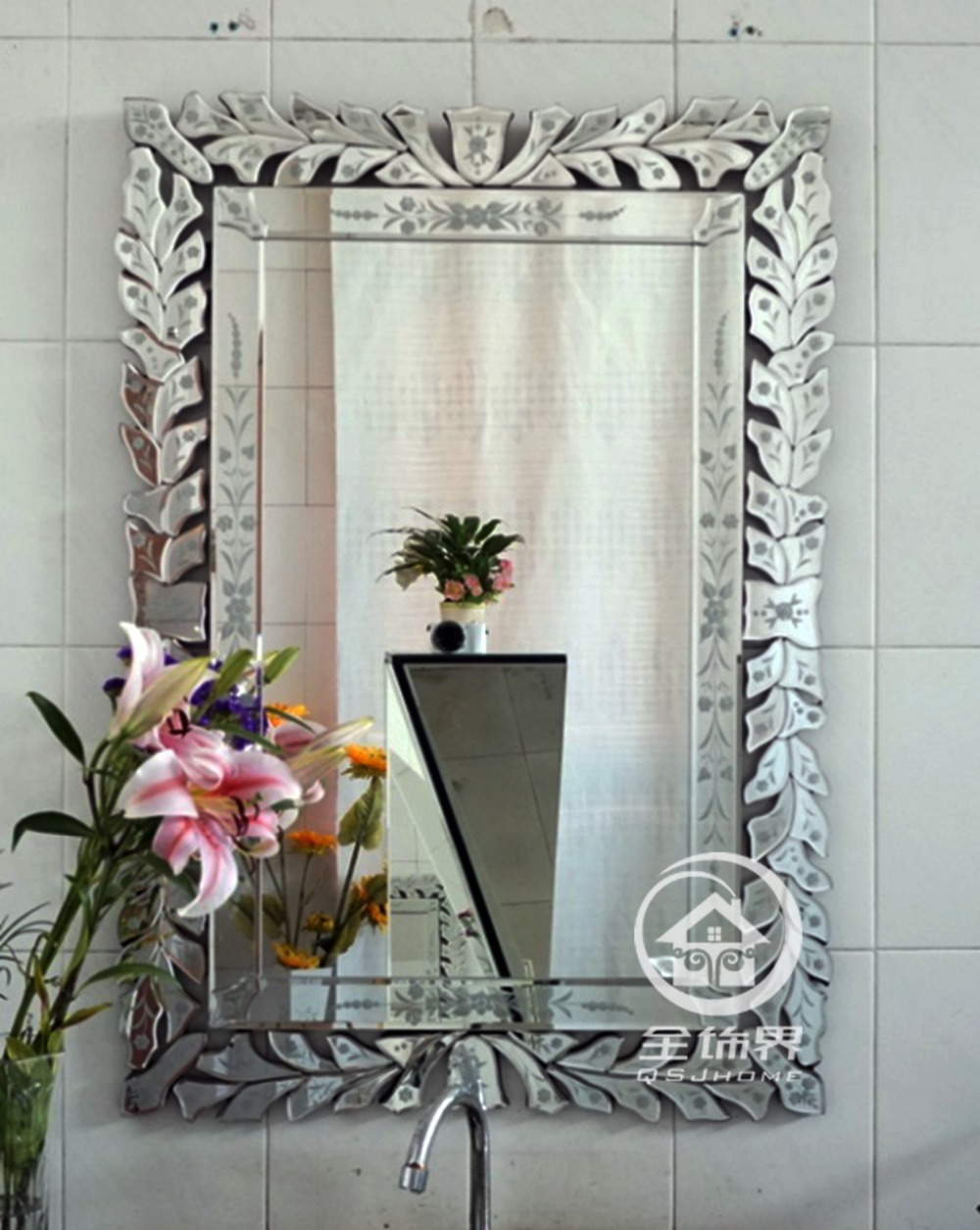 Online buy wholesale venetian mirror from china venetian for Glass mirrors for walls