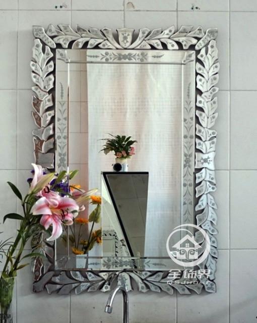 Moderne wand glas spiegel venedig wand dekorative gespiegelt kunst ...